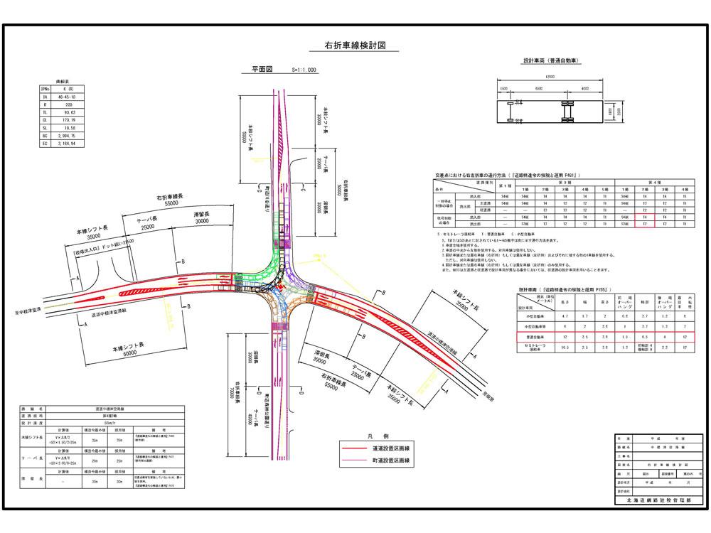 道路設計図面